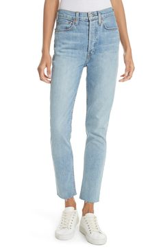 High Waist Crop Jean