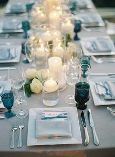 Featured Photographer: Caroline Tran; Wedding reception centerpiece idea.