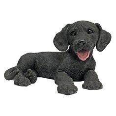 Design Toscano Black Labrador Puppy Statue - CF2445