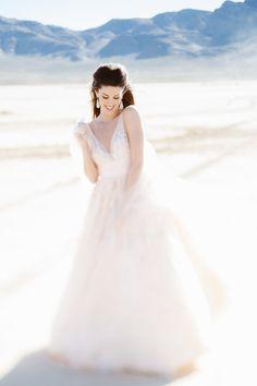 desert bride  ~ watters gown