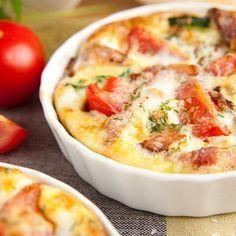 Gratin de pommes de terre, tomates et mozzarella