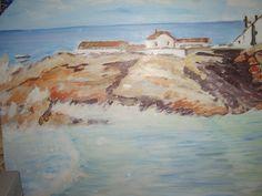 """""""Britische Küste"""" gemalt von Emo Schuschnig"""