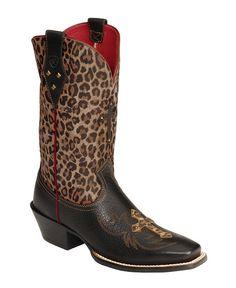 Ariat Legend Spirit Leopard Print Cowgirl Boots - Square Toe