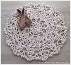 Doily Rugs With T Shirt Yarn Crochet Rug And Doilies