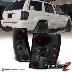 [SMOKE LEFT+RIGHT] 99 04 JEEP Grand Cherokee Laredo Limited Brake Tail  Light LED