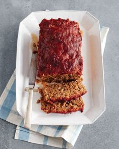 Meatloaf With Chili Sauce Recipe & Video | Martha Stewart