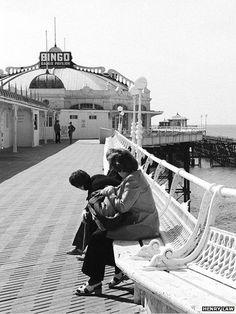The West Pier in Brighton East Sussex England before it closes for good in 1975 Brighton East Sussex, Brighton Rock, Brighton And Hove, War Photography, Types Of Photography, Street Photography, Brighton Photography, Bognor Regis, British Seaside