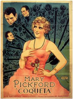 "2/28/14 4:45p  United Artists Pictures  ""Coquette""  Mary Pickford  ""Coqueta"" Vintage Movie Poster 1928/1929 Spanish Poster"