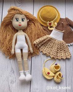 756 отметок «Нравится», 31 комментариев — Вязание На Заказ, Игрушки, МК (@kol_kseni) в Instagram: «🧡🧡🧡 Куколка #связаноназаказ_kkol 😃 __________________________________ 🌼 пряжа специально для…» Crochet Doll Tutorial, Crochet Doll Pattern, Crochet Dolls, Crochet Patterns, Amigurumi Toys, Softies, Plush Pattern, Crochet Doll Clothes, Stuffed Animal Patterns