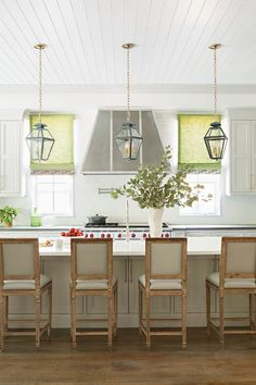 Grey kitchen with green accents. Light Grey kitchen with green accents. Lighting is by Urban Electric Co. #Greykitchen #greenaccents #kicthendecor Matt Morris Development