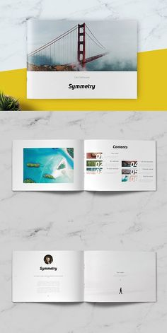 --- Symmetry Minimal Brochure was designed as a universal template for clean and minimalistic, however template can be easily used for many editorial contents Brochure Layout, Brochure Design, Brochure Template, Corporate Brochure, Business Brochure, Booklet Layout, Free Brochure, Creative Brochure, Brochures