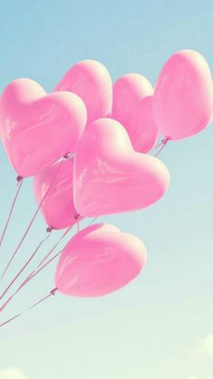 16 Ideas For Birthday Wallpaper Backgrounds Balloons Wallpaper For Your Phone, Pink Wallpaper, Mobile Wallpaper, Wallpaper Backgrounds, Iphone Wallpaper, Heart Wallpaper, Pink Balloons, Heart Balloons, Wedding Balloons