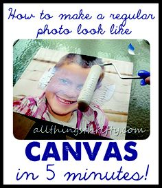 How to turn a Regular Photo to Canvas in 5 minutes!