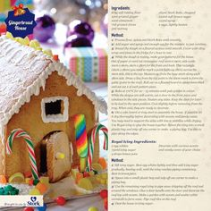 All avid bakers need to try baking a gingerbread house at least once! Days To Christmas, Christmas Treats, Christmas Baking, Stork, Winter Food, No Bake Cake, Yummy Food, Delicious Recipes, Holiday Parties