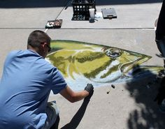 Chalk art at the streets of southglenn. This would have been so cool to go to!