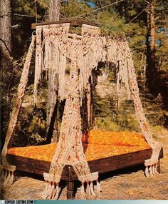 A Macrame' bed!!