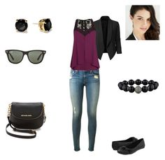 Unbenannt #13 by sole-luna-91 on Polyvore featuring City Chic, LE3NO, rag & bone, Call it SPRING, MICHAEL Michael Kors, Ray-Ban, Kate Spade and Kane