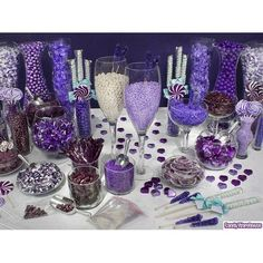 purple candy bar. Great website for planning a candy bar.
