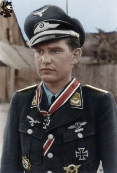 Helmut Fickel was a highly decorated Stuka pilot and a Oberleutnant in the Luftwaffe during World War II and a recipient of the Knight's Cross of the Iron Cross He was awarded with the Knight´s Cross by Rudel, on June 9th, 1944.. During his career he flew 800 missions.Helmut Fickel was captured by British troops in May 1945.