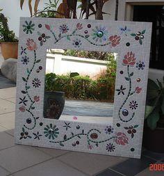 Hand crafted glass and ceramic mosaics, muni's mosaics, mosaic art, peterborough Mirror Mosaic, Mosaic Wall, Mosaic Glass, Mosaic Tiles, Glass Art, Sea Glass, Stained Glass Birds, Stained Glass Panels, Mosaic Designs