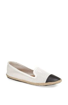 Free shipping and returns on Kendall & Kylie Madden Girl 'Poppyy' Espadrille Flat at Nordstrom.com. An espadrille sole exaggerates the earthy vibe of a classic, carefree flat with breezy diamond perforations.