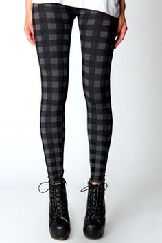 Molly Checked Heritage Stye Leggings