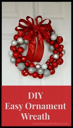 How To Make an Ornament Wreath #Craft #DIY #Christmas http://momalwaysfindsout.com/2013/12/how-to-make-an-ornament-wreath/