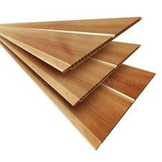 Forro Linear de PVC Polifort 8mm x 20cm x 3m (m²) Nogueira