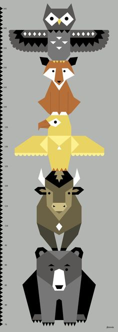 12 Awesome totem animals chart images