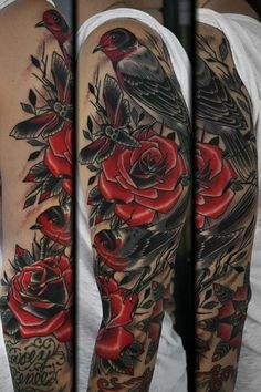 tattoo by stefan johnsson  red and black