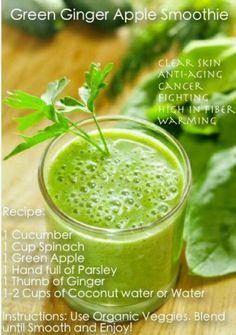 .Green Ginger Apple Smoothie  #smoothie #health #detox #newleafdetox