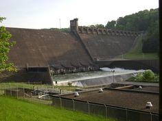 Grafton, WV: Tygart Lake Dam (River Side)2 - May 26, 2008