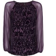 Baroque Velvet Blouse ($72) ❤ liked on Polyvore