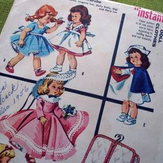 Vintage Sewing Pattern DOLL CLOTHES McCalls 1956 by SelvedgeShop