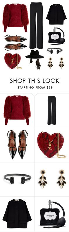 """Wednesday November 16/2016"" by micaiahjoi ❤ liked on Polyvore featuring Sonia Rykiel, Roland Mouret, RED Valentino, Yves Saint Laurent, Kendra Scott, Vera Bradley, Marni and Victoria's Secret"
