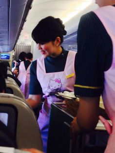 Hello Kitty flight, Eva Air