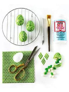 DIY Easter : DIY Easy Easter Craft - Paper Napkin Easter Egg