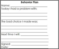 Editable Behavior Plan  Dots Classroom Set  Behavior Plans And