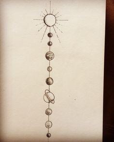Solar system tattoo  #geometrictatroo #solarsysystemtattoo