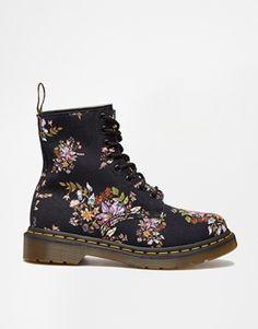Dr Martens Core Floral Print Castel 8-Eye Boots