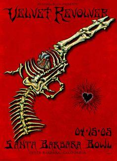 Velvet Revolver - Classic rock music concert psychedelic poster ~ ☮~ღ~*~*✿ Music Pics, Music Love, Art Music, Music Is Life, Rock Music, Live Music, Tour Posters, Band Posters, Music Posters