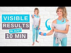 10 Minute DUMBBELL ARM WORKOUT For Women Over 50! - YouTube Standing Ab Exercises, Standing Abs, Back Exercises, Dumbbell Arm Workout, Tone Arms Workout, Leslie Sansone, 7 Day Challenge, Walking Exercise, Low Impact Workout