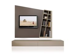 TV WALL SYSTEM GIANO DYNAMIC ESTEL CASA LINE BY ESTEL GROUP | DESIGN MONICA BERNASCONI, NORBERTO DELFINETTI