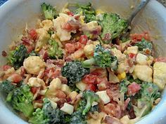 I can't decide whether this broccoli salad sounds delicious or disgusting...
