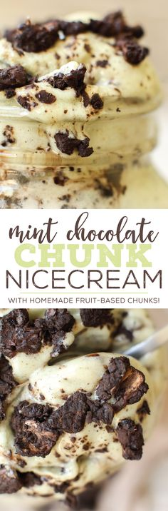 Vegan chilly chocolate-filled decadence! Banana ice cream with homemade fruit-based dark chocolate chunks mixed in for a low in fat but high in flavor treat...