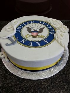 Simple and Easy Cake Recipes Us Navy Birthday, Birthday Cakes For Men, 70th Birthday, Birthday Parties, Army Cake, Military Cake, Going Away Cakes, Navy Cakes, Navy Groom