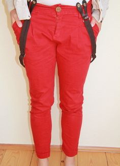 Braces with red pants