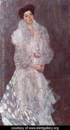 Portrait of Hermine Gallia - Gustav Klimt - www.klimtgallery.org