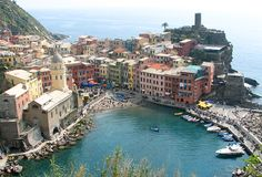 Vernazzo, Cinque Terre, Italy - had coffee here listening to Dixieland music.
