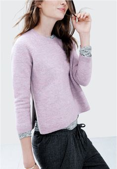 J. Crew lambswool zip sweater
